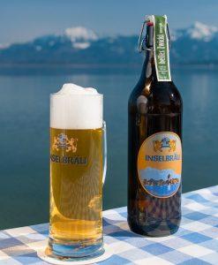 Inselbräu Helles Zwickl naturtrüb in der 1-Liter Schmuckflasche