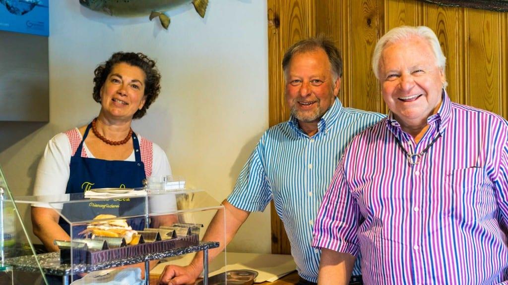 Eckart Witzigmann zu Besuch bei Sylvia und Thomas Lex auf der Fraueninsel