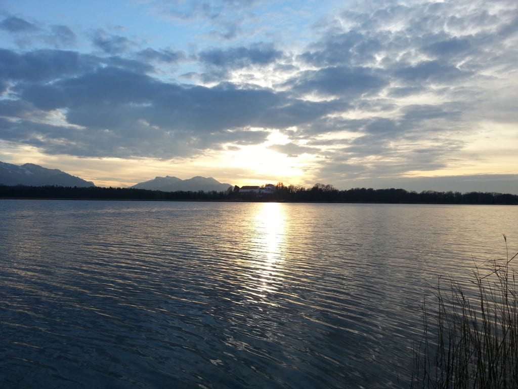 Sonnenaufgang am Chiemsee, Fangzeit